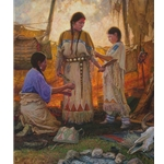 Wedding Preparations - dressing the bride by western artist Martin Grelle