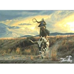 Bringing Home the Ranch Pet by western artist Tim Cox