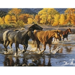 Horses of the Creek by western artist Tim Cox