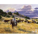 On to Better Pastures by cowboy artist Tim Cox