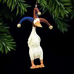 The Fool - Christmas ornament duck by Will Bullas
