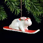 Snow Bunny Christmas ornament by Will Bullas