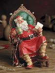 St. Nicholas and 8 ornament elves - set - pearl bisque figurines by Scott Gustafson