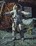 The Hammer and the Feather by astronaut artist Alan Bean