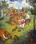The Queen's Croquet-ground by fairy tale artist Scott Gustafson