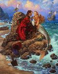 The Pirate and the Mermaid by fantasy artist Scott Gustafson