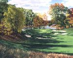 The 3rd Hole Pond The Country Club Brookline MA by Linda Hartough