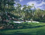 "13th Hole Augusta National ""Azalea"" by Linda Hartough"