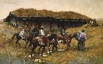 Trading Post at Chadron Creek by western artist Howard Terpning