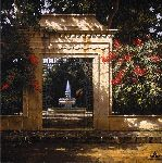 Eden - Garden gate and Fountain by artist George Hallmark