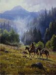 Mists of Morning by western artist Martin Grelle