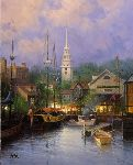 New England Harbor by G. Harvey