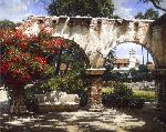 The Jewel - Mission San Juan Capistrano by landscape artist George Hallmark