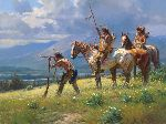 Dust in the Distance by western artist Martin Grelle