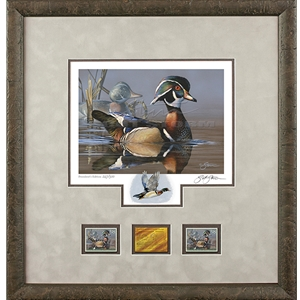 2019-2020 Federal Duck Stamp PRESIDENT's EDITION - Wood Duck and Decoy by Scot Storm