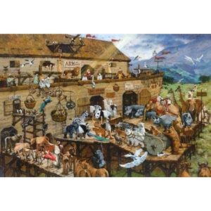 It's a Zoo in There! - Noah's ark by religious artist Michael Dudash