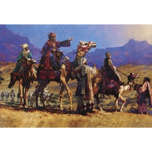 Searching for the King - Three wise men by Christian artist Michael Dudash