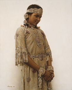Little Fawn - Cree Indian Girl by James Bama