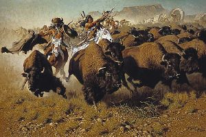 Attack on the Wagon Train by Frank McCarthy