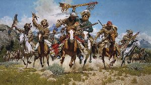 Down From the Mountains - Trappers by western artist Frank McCarthy