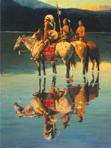 Peace on Blue Lake by western artist David Mann